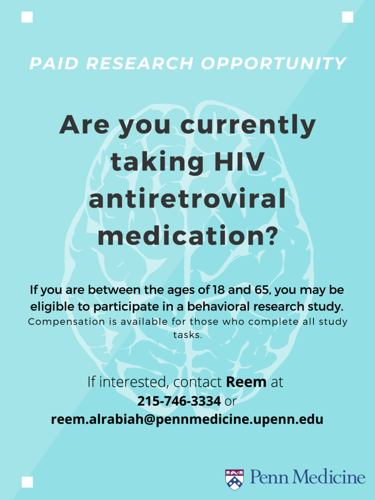 Behavioral research study for people who are currently taking HIV antiretroviral medication